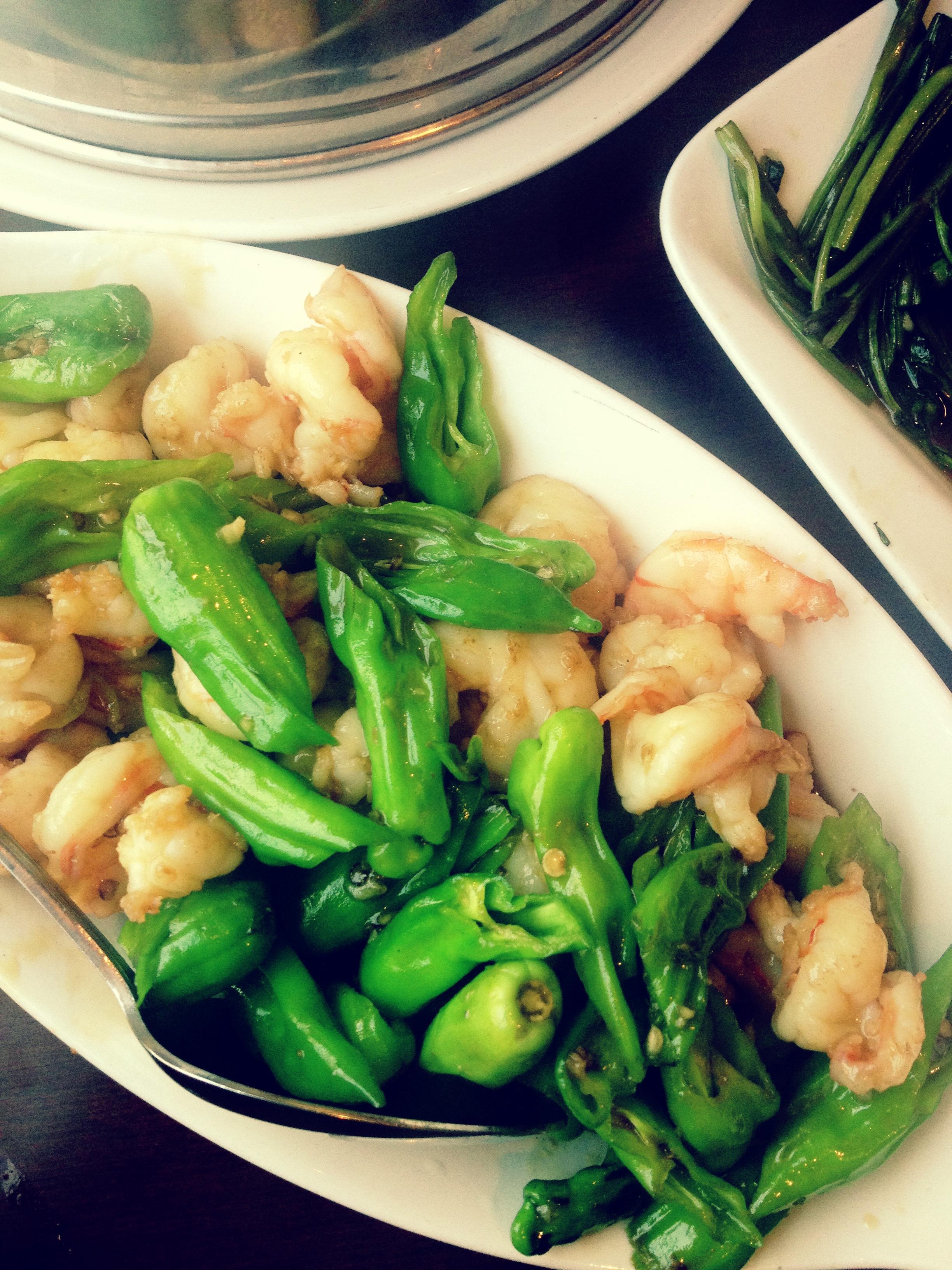 shishito peppers and shrimp - Roc Kitchen